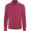 Bergans Leknes LS Shirt Men Red/Navy Check